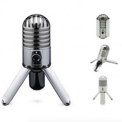 Studio Recording Condenser Microphone Fold-back Leg & USB Cable & Carrying Bag