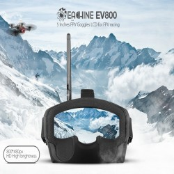 """Eachine EV800 5"""" 800x480 FPV Goggles 5.8G 40CH Raceband Auto-Searching Build In Battery"""