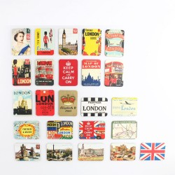 UK England British Style Fridge Magnets Set 24pcs