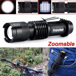 Mini 2000Lm Bright CREE Q5 LED Adjustable Zoom Focus Flashlight Torch