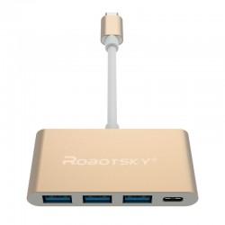 Robotsky UBS 31 Convertitore C a C + 3 USB HUB Super Speed OTG