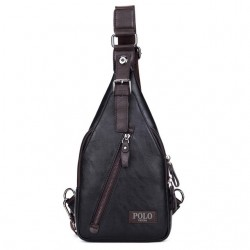 Vicuna Polo Fashion Theftproof Magnetic Button Leather Crossbody Men's Bag