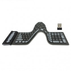 Flexible silicone - foldable - wireless - 107-keys keyboard - Russian - Qwerty