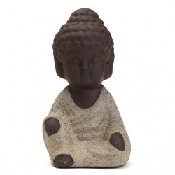 Kiwarm Mini Monk Figurine Buddha Statue Tathagata India Yoga Mandala Sculptures Ceramic Tea Ceremony