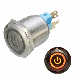 Interruttore Luce 6 Pin 22mm 12V LED