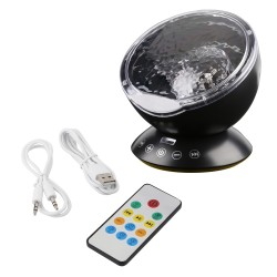 Ocean Wave Starry Sky USB LED Night Light Projector