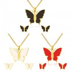 Butterfly Necklace & Earrings Jewellery Set