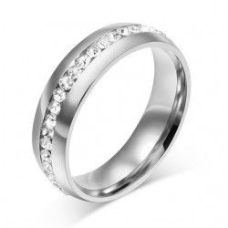 Crystal Gold & Silver Classic Ring