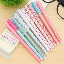 Flowery Design Color Gel Pens 10pcs