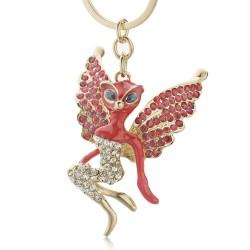 Cristal Catwoman avec des ailes porte-clés