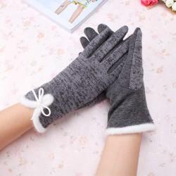 Cotton Wool Cashmere Elegant Ladies Gloves