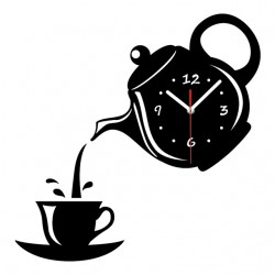 Coffee Tea Cup Shape Wall Clock