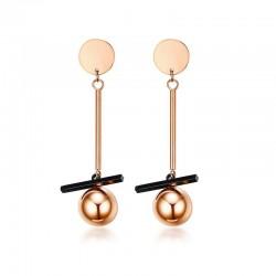 Rose Gold Long Earrings