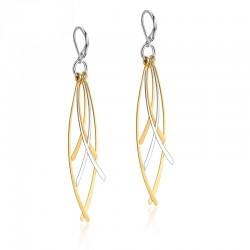 Gold & Silver Tassels Long Earrings