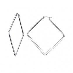 Silver Big Geometric Earrings