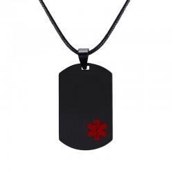 Medical sign pendant - leather necklace - unisex