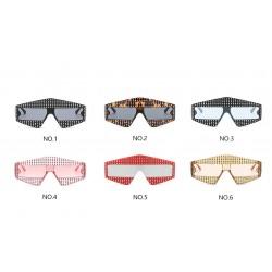Rhinestones Frame Oversized Sunglasses