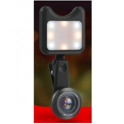 Kit lenti macro e luce led per iPhone 3 in 1