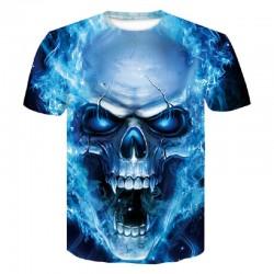 T-Shirt con Teschio 3D da Uomo