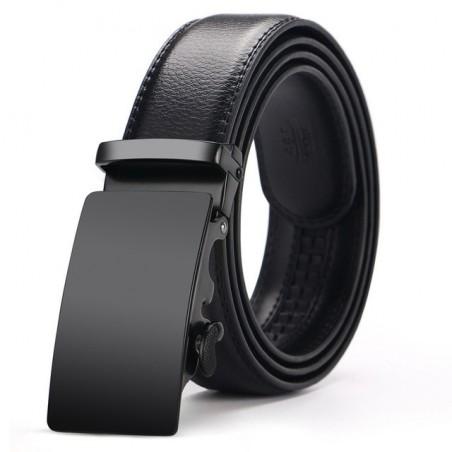 Cintura con fibbia automatica in Vera Pelle