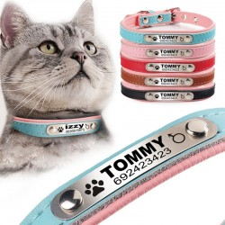 Puppy - cat collars - ID Tag - personalized - engraved - leather
