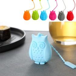 Filtro infusore di tè gufo in silicone
