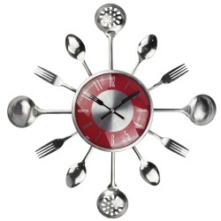 Metal cutlery wall clock 18 inch