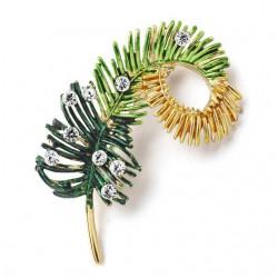 Crystal Pine tree brooch