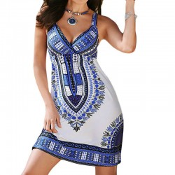 Ethnic style mini dress