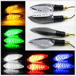 Universal 12V LED motorcycle waterproof amber light turn signal indicators 2 pcs