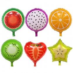 Palloncini decorativi a forma di frutta per compleanni 6 pcs