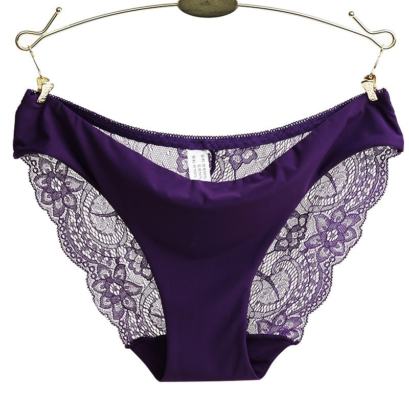 Sexy lace panties seamless briefs cotton