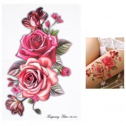 Tatuaggio temporaneo fiore e uccello