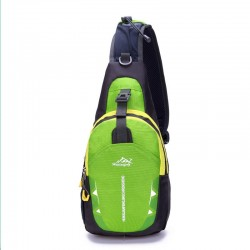 Waterproof nylon chest shoulder bag backpack unisex