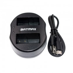 Caricabatterie dual USB per DMW-BLC12 DMWBLC12 BLC12 BLC12PP Panasonic Lumix FZ1000 FZ200 FZ300 G5