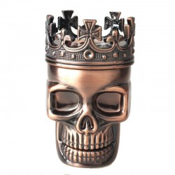 Metal king skull tobacco grinder 3 Layers crusher