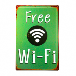 Vintage metal sign poster Free Wifi