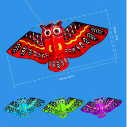 Colorful owl easy fly kite 110 * 50cm