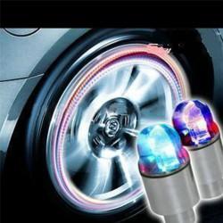 Luci per ruote auto bicicletta LED neo blu 2 pcs