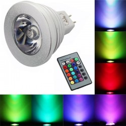 Lampadina cambia colore con telecomando E14 E27 RGB LED 3W