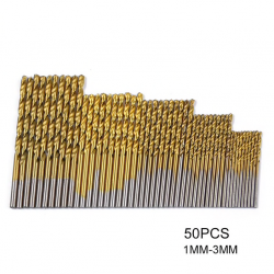 Titanium coated twist drill bits 50 pcs