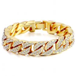 Braccialetto unisex oro e argento