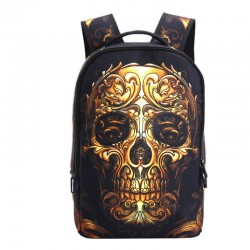 3D Skull design backpack - canvas