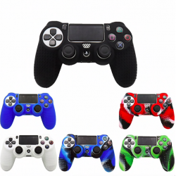 PS4 Playstation Controller silicone half skin cover & thumb stickers grips