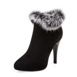 High heels winter ankle boots