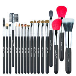 Super soft natural hair professional makeup brush set 18 pcs