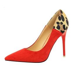 Suede high heel pumps
