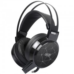 C13 LED gaming headset headphones with microphone