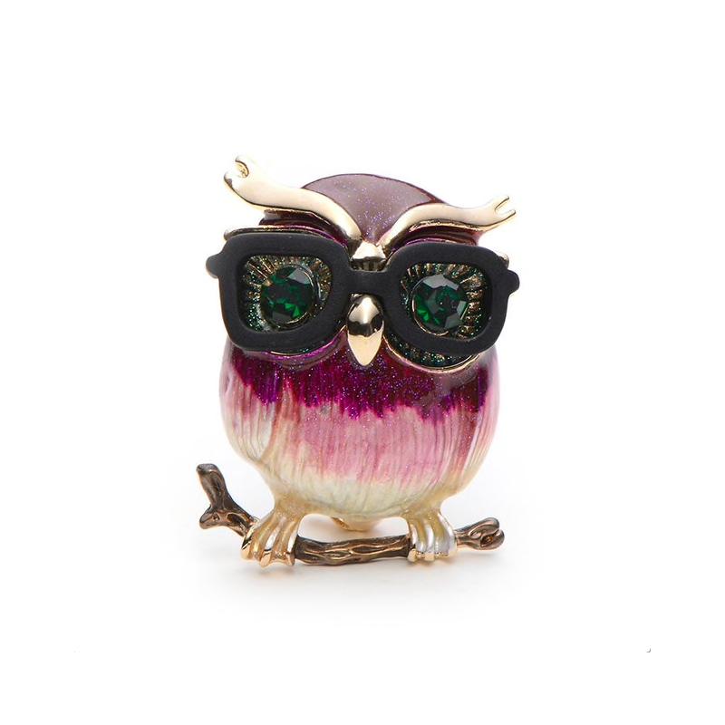 complet dans les spécifications grande remise les dernières nouveautés Broche hibou avec lunettes   Store Monaco