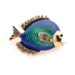 Spilla da donna pesce blu